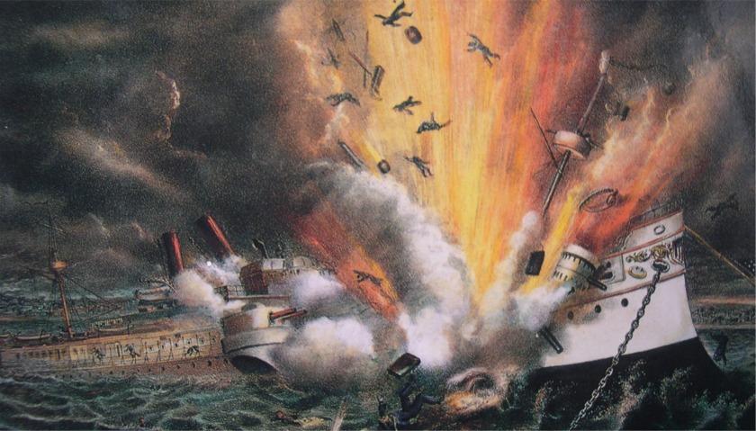 Titanic ship drawing sinking