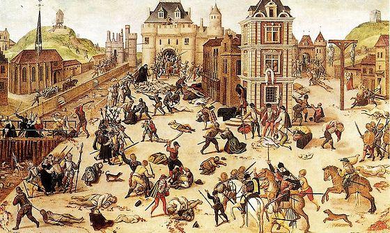 23 augustus 1572 - Begin van de Bartholomeusnacht