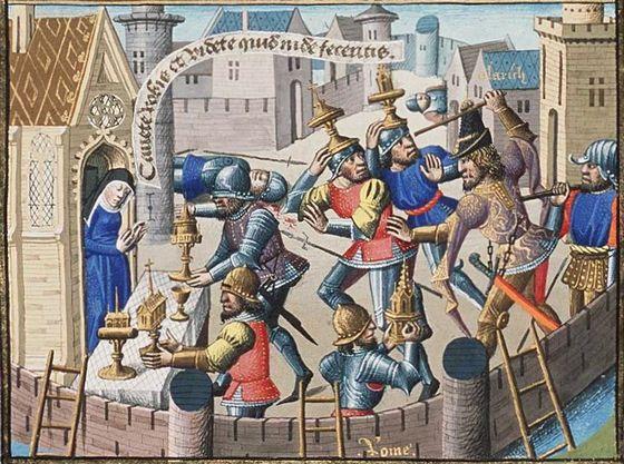 De plundering van Rome door Alarik