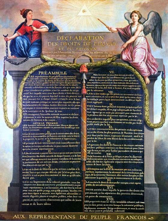 26 augustus 1789 - De Verklaring van de Rechten van de Mens wordt aangenomen