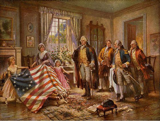 14 juni 1777 - De 'Stars & Stripes' wordt de vlag van de VS
