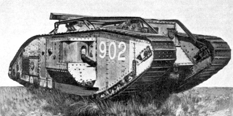 ww1 tank quotes tanks british war mark during military they army weapons mk wwi use were guns did slag combat