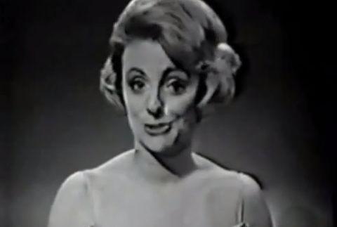 Annie Palmen tijdens het Eurovisiesongfestival van 1963