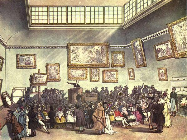 Veilingruimte Christie's, circa 1808
