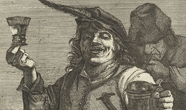 Drinkende man, Quirin Boel, David Teniers (II), onbekend, 1635 - 1668