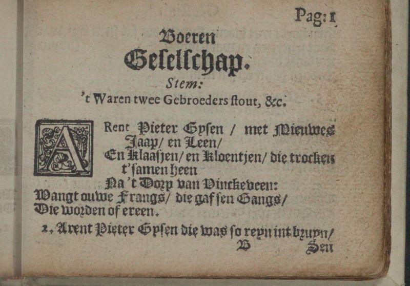G.A. Bredero, Geestigh liedt-boecxken (1621)