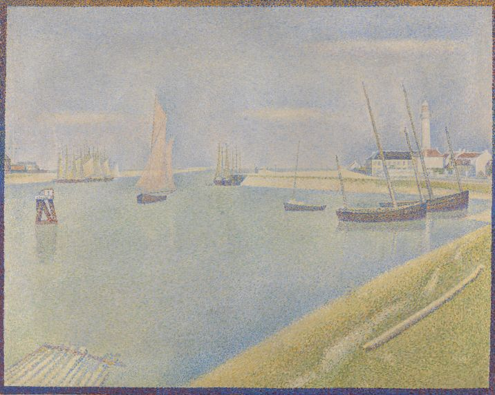 Georges Seurat, Le chenal de Gravelines, Grand-Fort-Philippe, 1890, olieverf op doek, 65 x 81 cm, Bought with the aid of a grant from the Heritage Lottery Fund, 1995, The National Gallery, Londen, © Copyright The National Gallery, London 2014