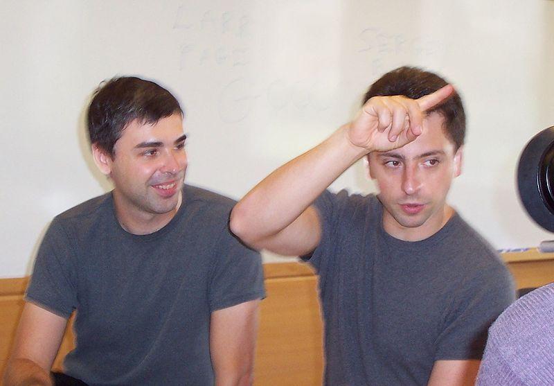 Larry Page en Sergey Brin - cc