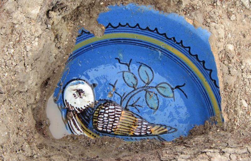 Zeventiende-eeuws blauw majolica bord (RCE)