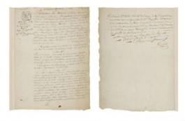 De huwelijksakte van Napoleon en Joséphine (Osenat)