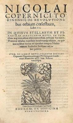 De revolutionibus Orbium coelestium - Copernicus