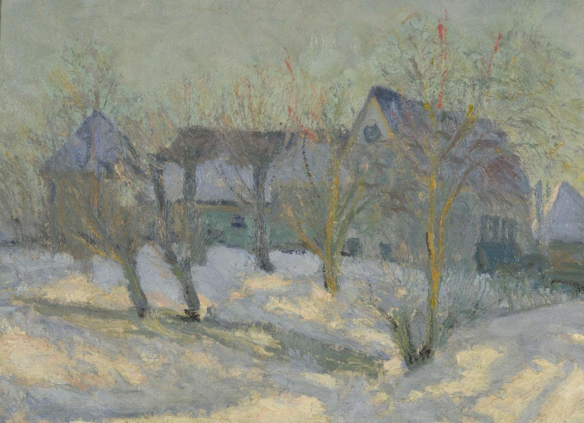 Karel Appel - Winterlandschap 1942. Olieverf op doek. Collectie RCE