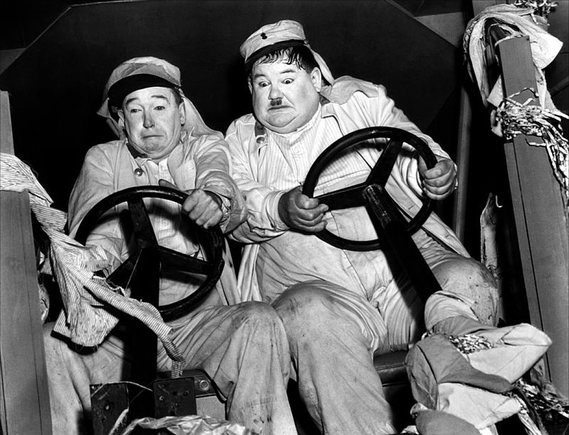Laurel en Hardy in de film The Flying Deuces, 1839