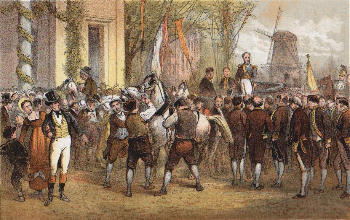 Aankomst van koning Willem I in Amsterdam op 2 december 1813