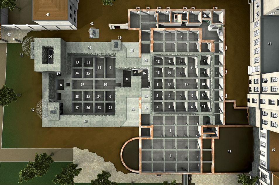 Bovenaanzicht van de bunker - cc