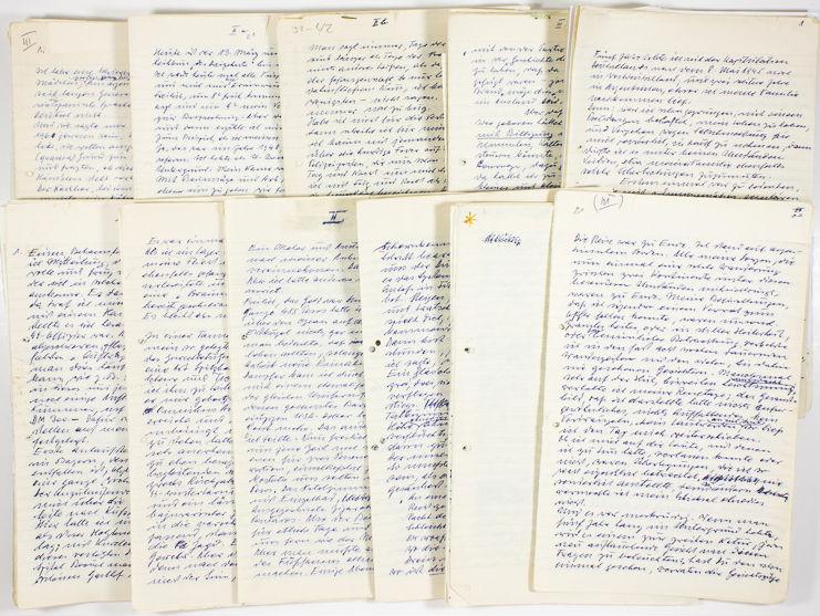 Notities van Adolf Eichmann (Alexander Historical Auctions)