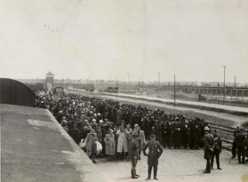Selectieproces op het station van het kamp (Auschwitz Album, mei 1944)