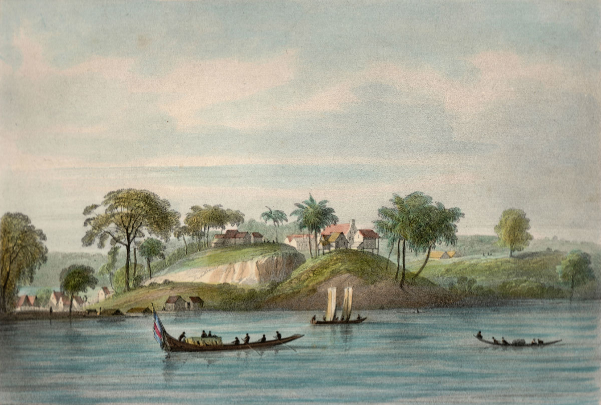 Pierre Jacques Benoit, Litho uit Voyage à Surinam, Brussel. Collectie Kenneth Boumann