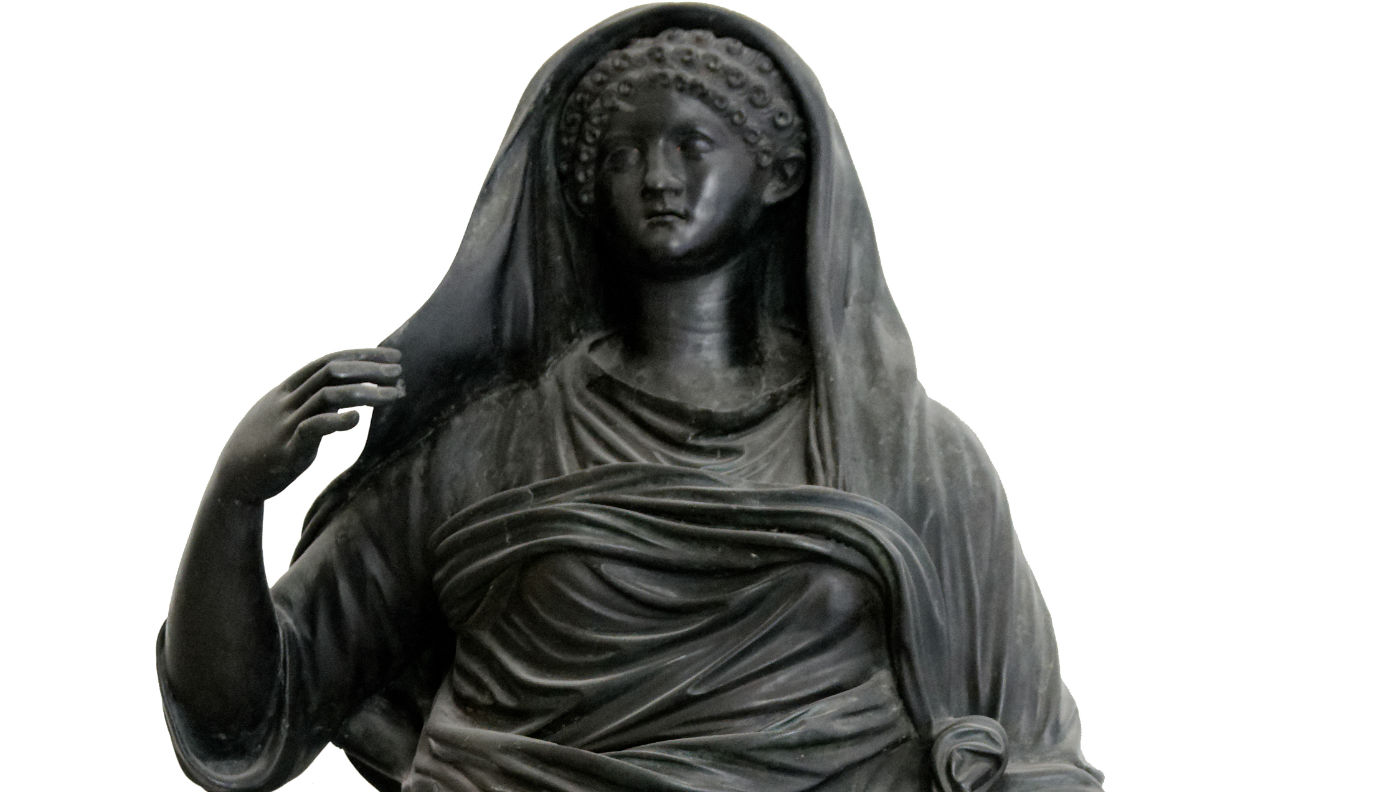 Beeld van Agrippina Minor uit Herculaneum (Valkhof)