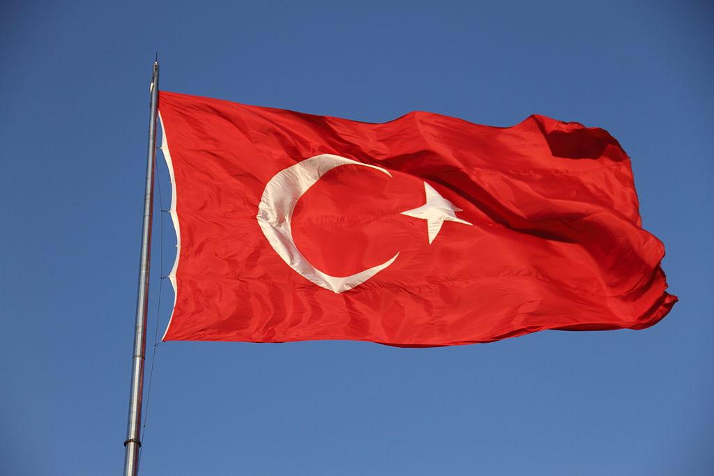 De vlag van Turkije - cc