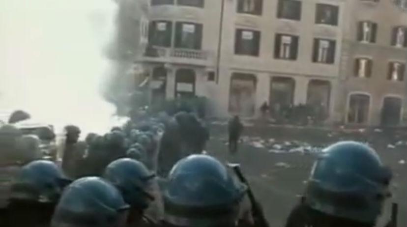 Ravage op het Piazza di Spagna
