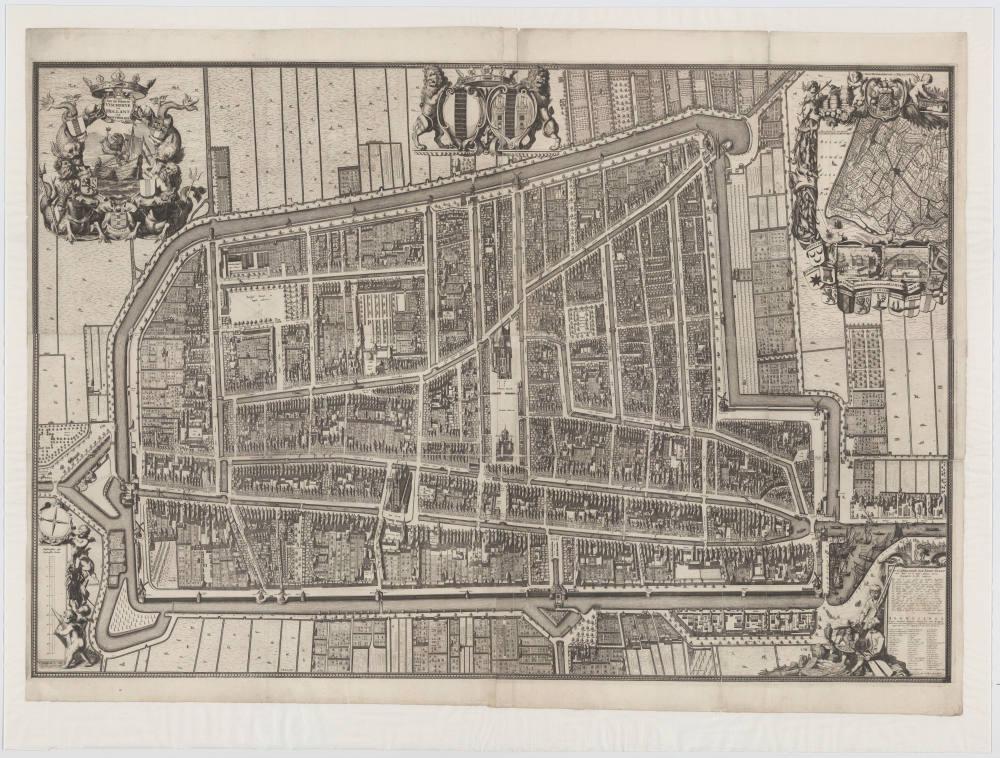 Kaert Figuratief - 1678 (lijst) 1703 (kaart) - Steven de Swart - Museum Prinsenhof Delft