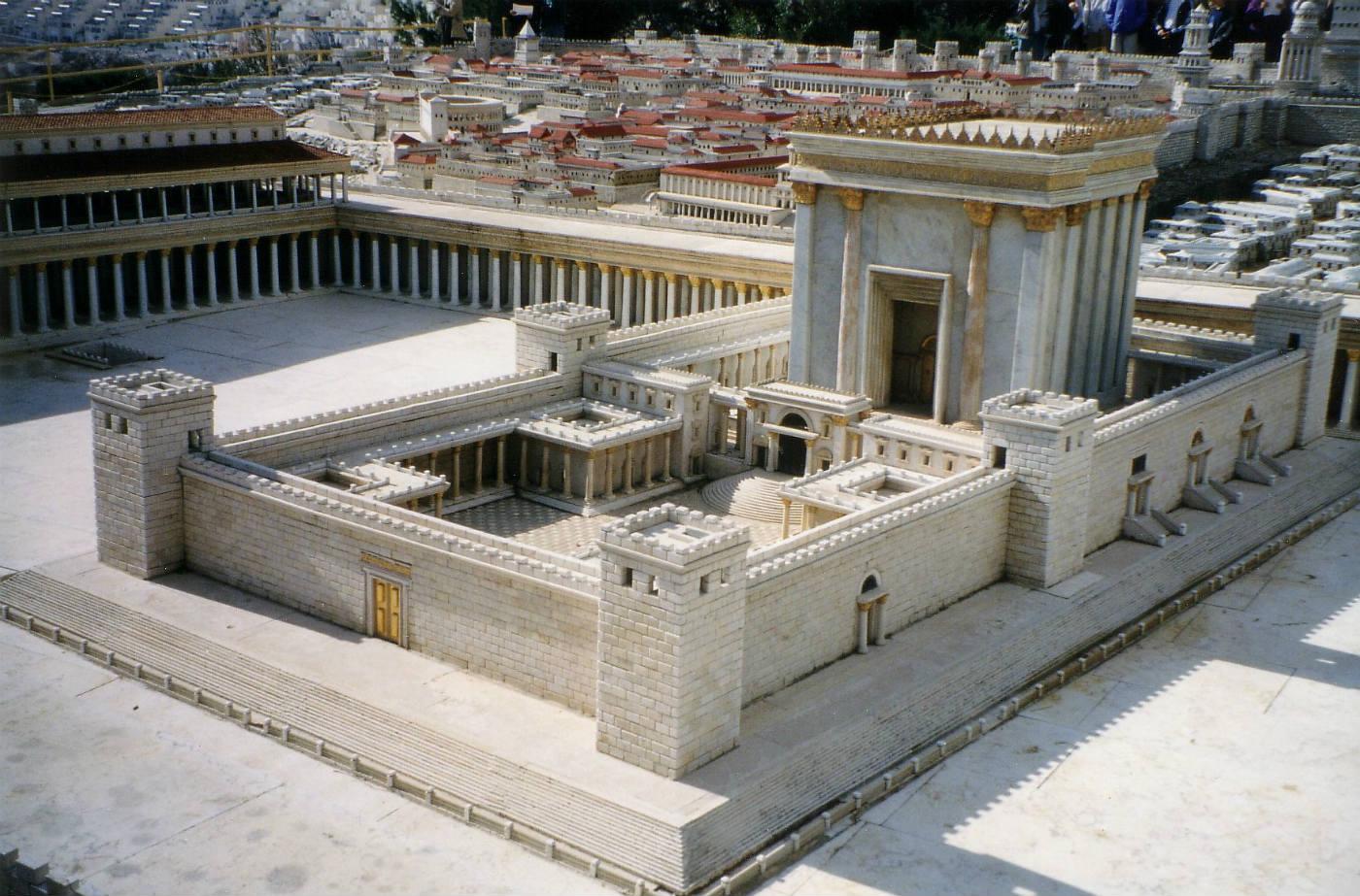 Model van de tweede tempel in Jeruzalem - cc