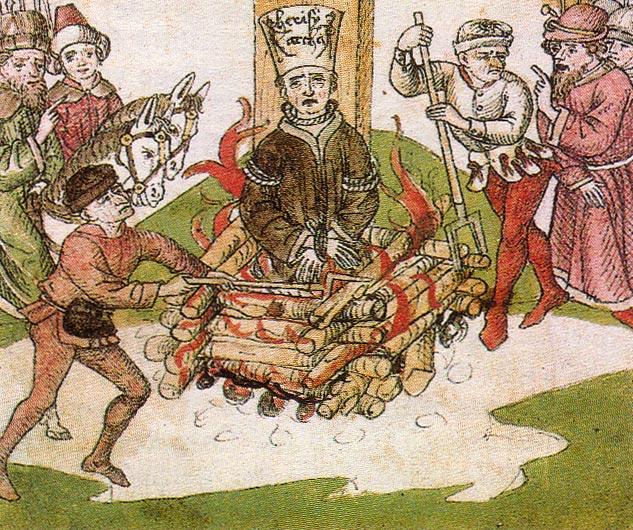 Johannes Hus op brandstapel