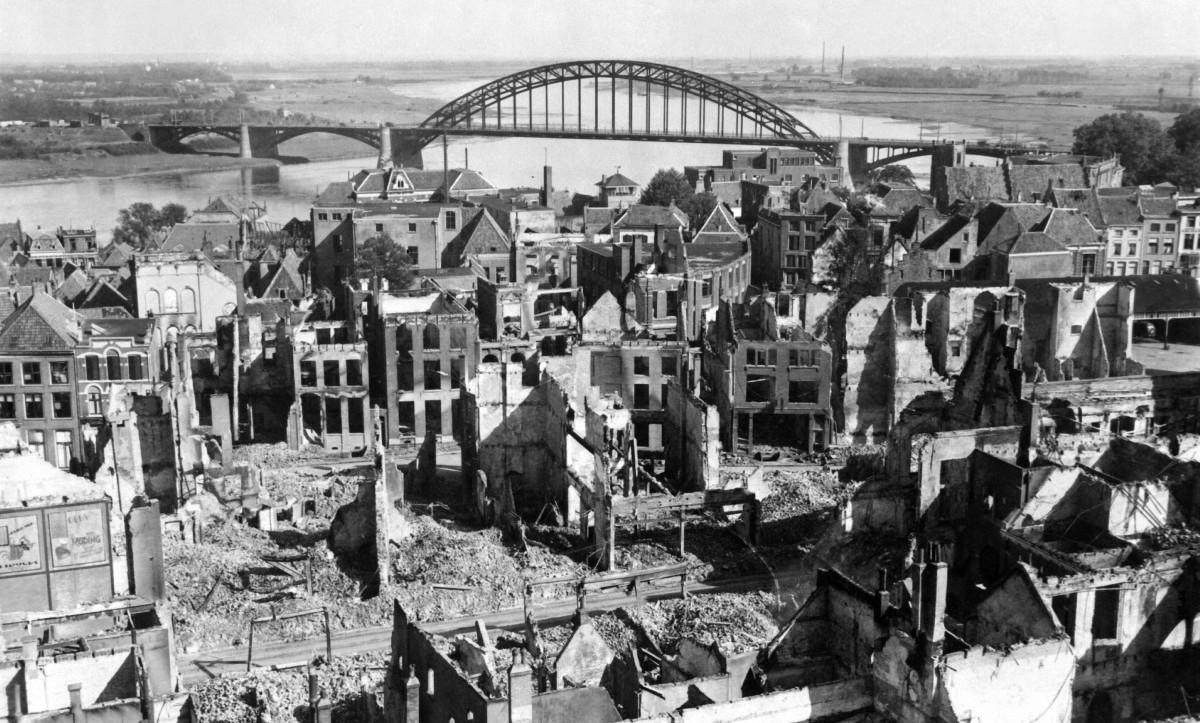 Brandgrens bombardement Nijmegen wordt zichtbaar gemaakt