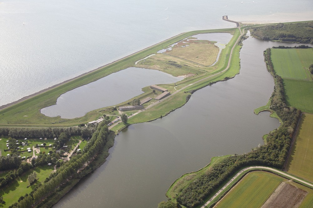 Luchtfoto van het Watersnoodmuseum - cc