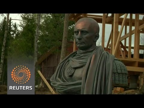 Vladimir Poetin als Romeinse keizer