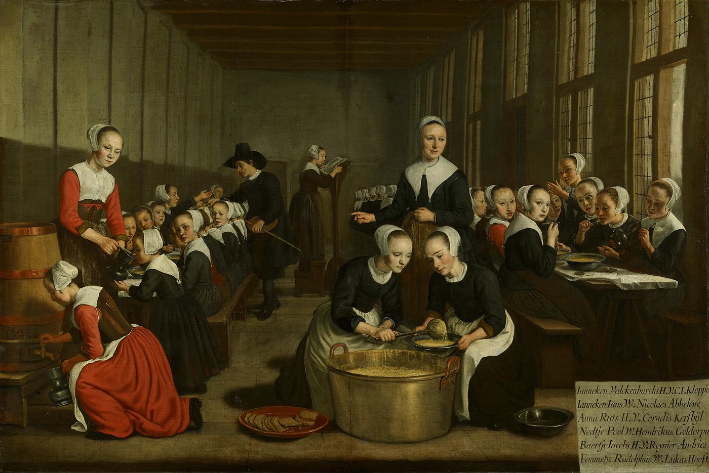 Jan Victors, Het voeden der wezen (ca.1659-60)