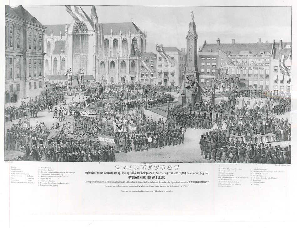 Carel Christiaan Antony Last, Triomftocht gehouden binnen Amsterdam op 19 juni 1865 ter gelegenheid der viering van den vijftigsten gedenkdag der overwinning bij Waterloo, 1865