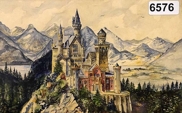 Kasteel Neuschwanstein volgens Adolf Hitler