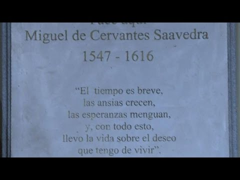 Miguel Cervantes herbegraven in Madrid
