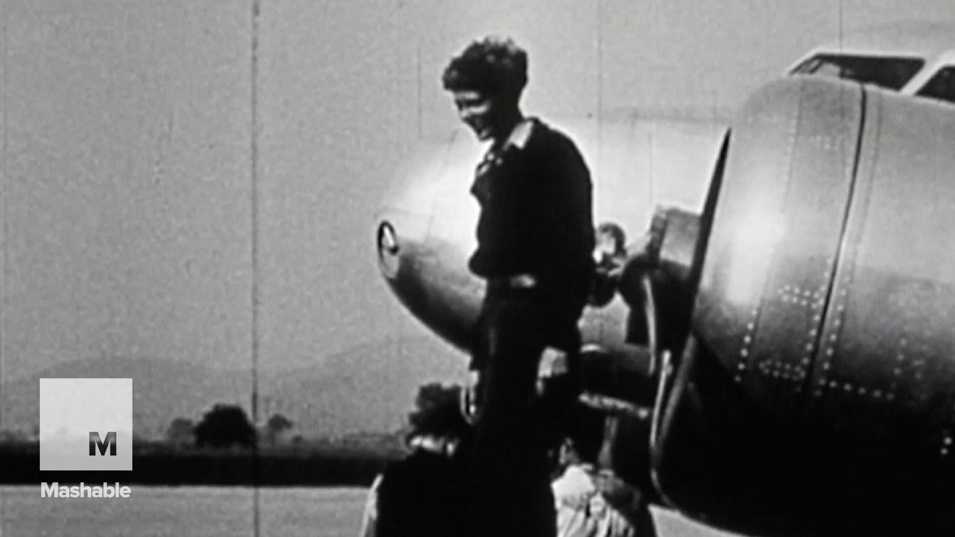 Onbekende beelden Amelia Earhart opgedoken
