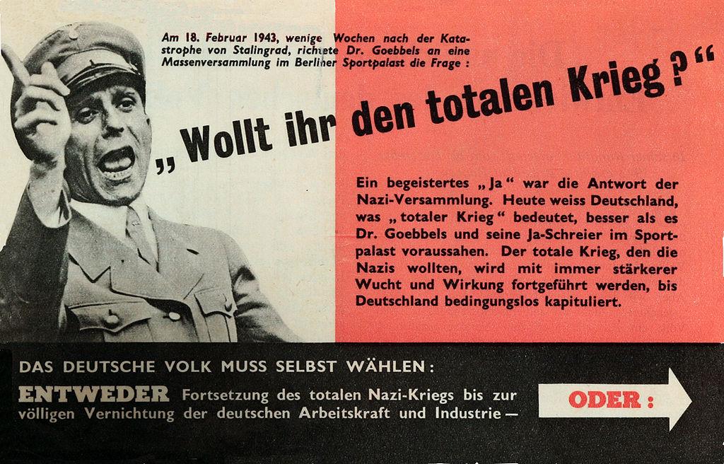Joseph Goebbels op een nazi-poster