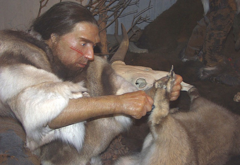 Sculptuur in een Neanderthaler-museum (wiki)