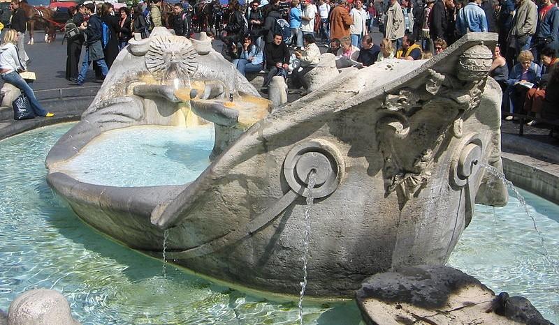 Fontana della Barcaccia in Rome