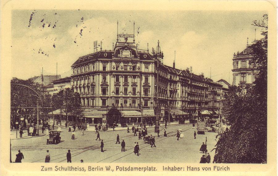 Potsdamer Platz Berlijn, ca. 1900. Bron: Wikimedia