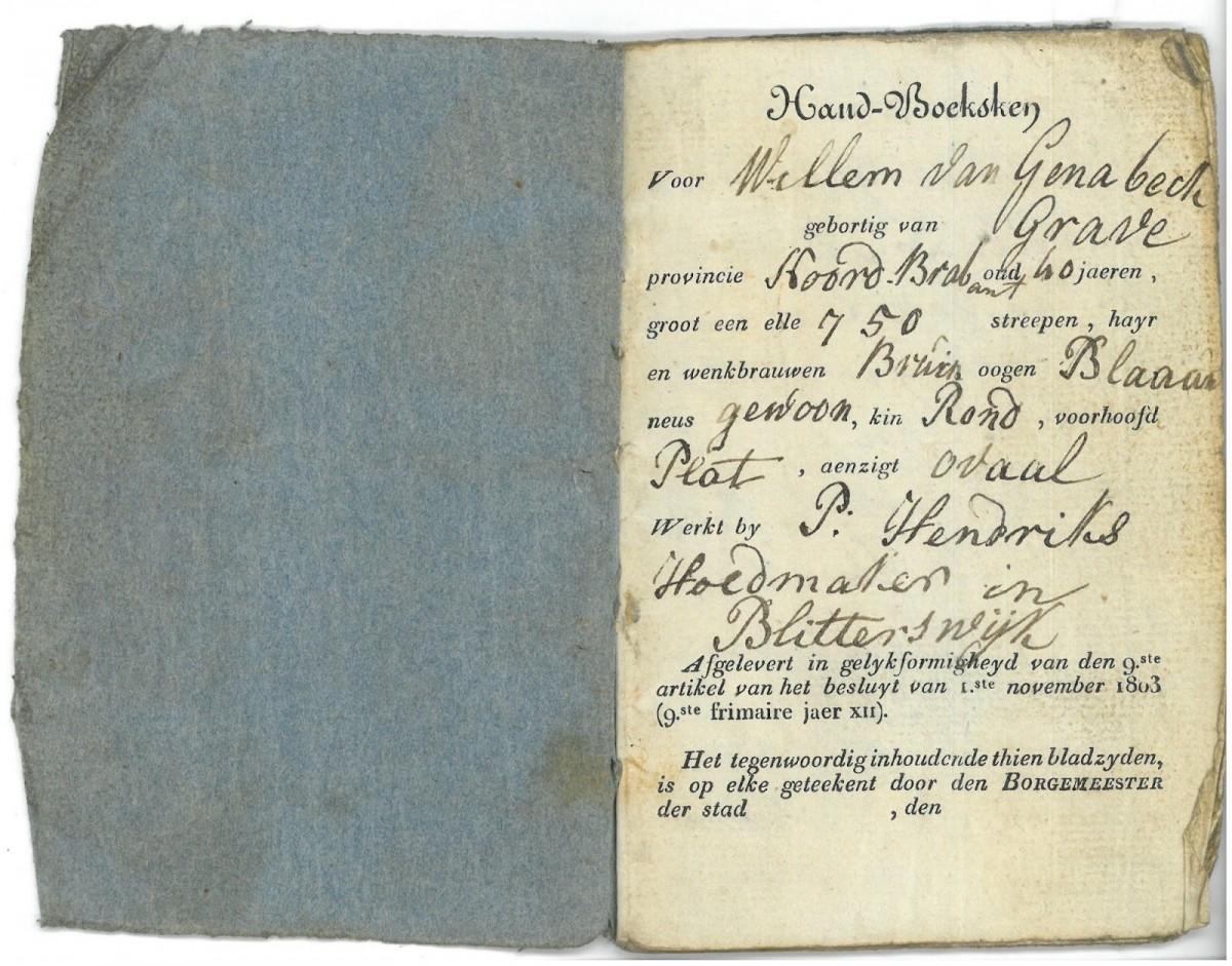 Het 'handboeksken' van arme sloeber Willem van Genabeck