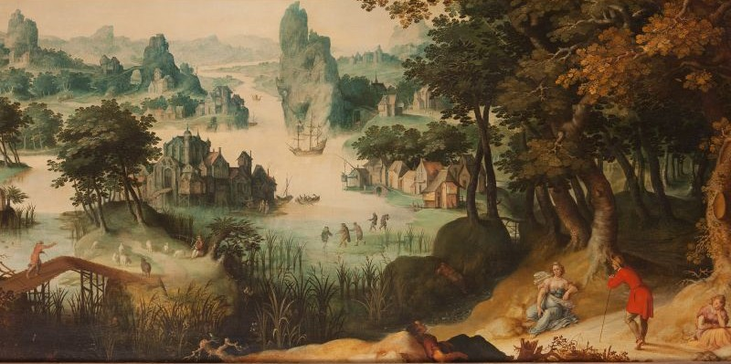 Landschap met Cimon en Efigenia (detail), 1608, olieverf op doek
