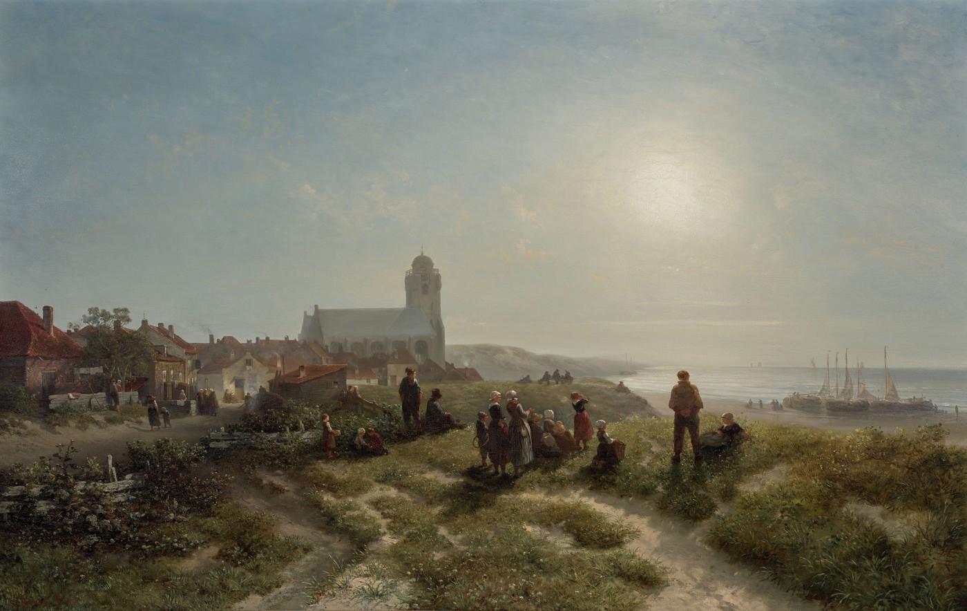 Salomon Verveer, Een namiddag te Katwijk aan zee, 1836. Museum Boijmans van Beuningen, Rotterdam