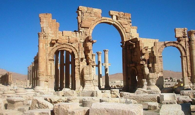 Grote triomfboog in Palmyra - cc