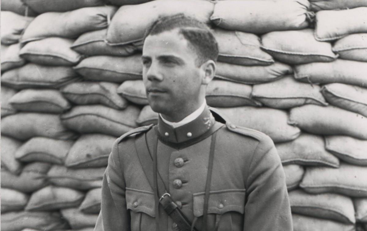Sloterdijk 12 mei 1940. Eduard Jacob Rosen Jacobson (vaandrig).