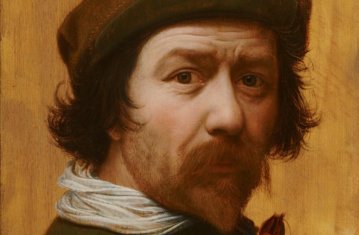 Inv. Nr 955 - Huygh Pietersz Voskuyl - Zelfportret, c. 1638 - Mauritshuis Den Haag