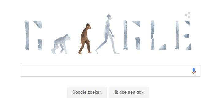 Lucy de Australopithecus - Google Doodle