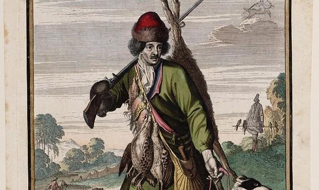 Casper Luyken, November, prent, 1700 (detail)