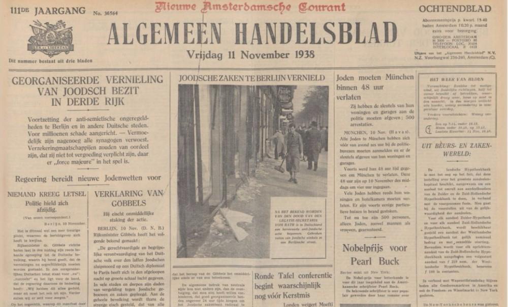Kristallnacht in de Nederlandse pers