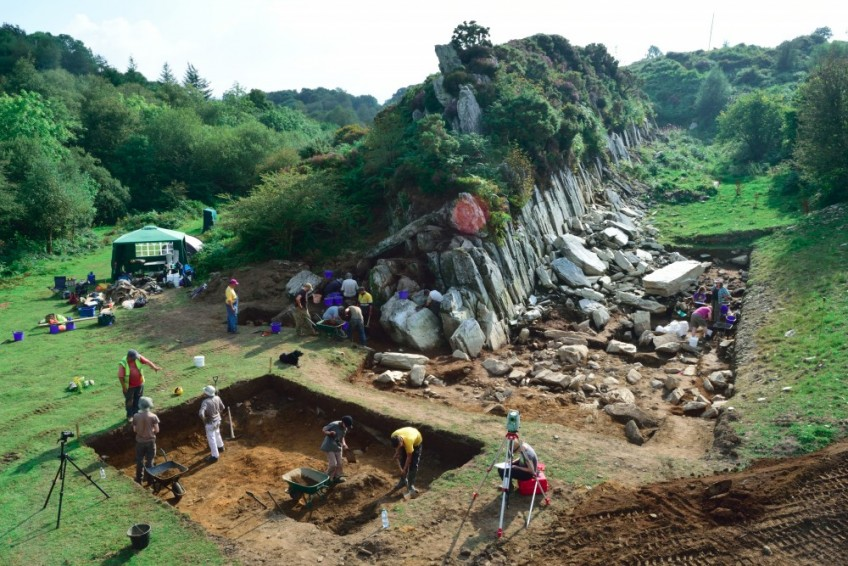 Opgravingen bij Craig Rhos-y-felin (UCL)